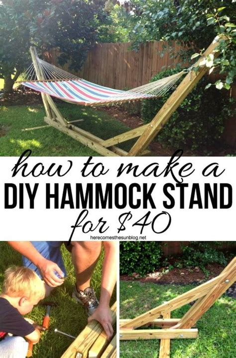 How To Make Your Own Hammock Stand by 54 Diy Garden Furniture Ideas To Update Your Home Outdoor