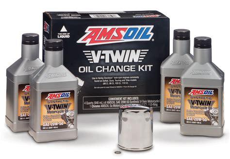 AMSOIL V-Twin Oil Change Kit for Harley Davidson Motorcycle
