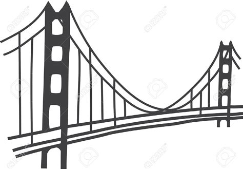 Golden Gate Clipart Cartoon Pencil And In Color Golden