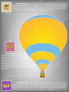 Infographic Diagram Of Hot Air Balloon Vector Illustration