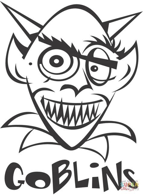 goblin coloring page  printable coloring pages