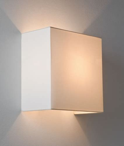 simple fabric wall light square shade up down lighting