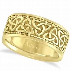 wedding rings outlet mens 10mm 14k yellow gold hebrew lord With sears mens wedding rings