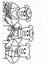 Pigs Coloring Three Pages Cartoon Printable Houses Recommended Colors Templates Template sketch template