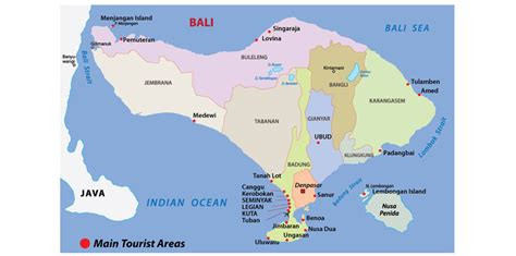 bali map bali travel guide