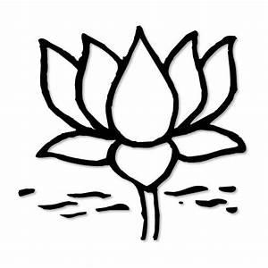 Lotus Flower Clip Art Black And White - ClipArt Best