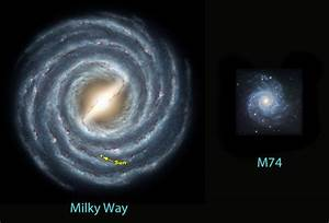 Milky Way Galaxy Size Comparison - Pics about space