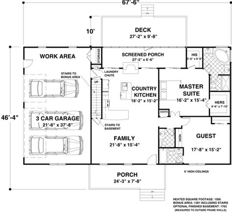 house plans 1500 sq ft house plan 92395 at familyhomeplans com
