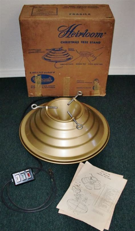 star bell revolving musical xmas tree holder details about vintage musical rotating tree stand white w gold vintage
