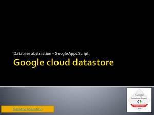 Google Cloud Datastore Driver For Google Apps Script Db