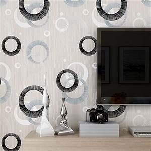 Modern Luxury Circle Design Wallpaper 3D Stereoscopic ...