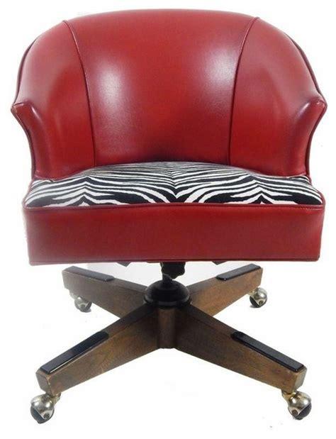 vintage vinyl zebra print desk chair contemporary