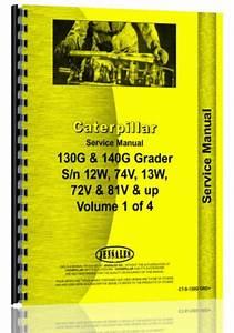 Caterpillar 130g 140g Grader Service Manual  Ct