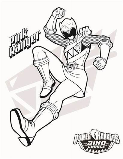 Power Ranger Rangers Coloring Pages Dino Charge