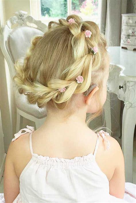 33 cute flower girl hairstyles 2017 update crown