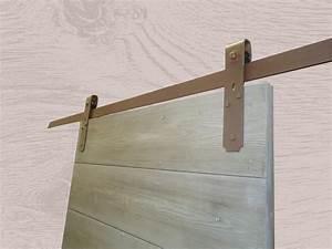 Porte Coulissante Dans Le Mur : portes coulissantes avec rail m tal et roulettes sur platines ~ Dailycaller-alerts.com Idées de Décoration