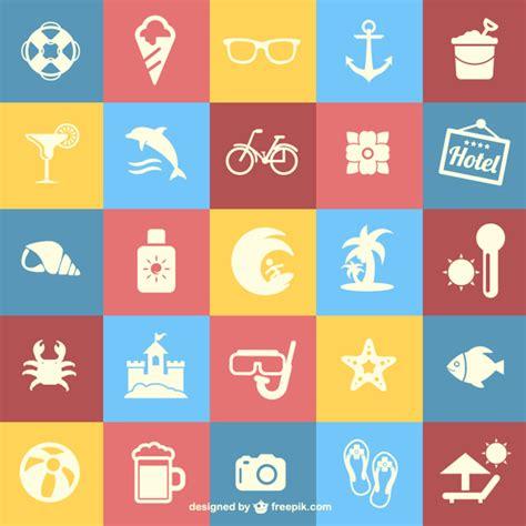 Free Vector | Summer holidays flat icons