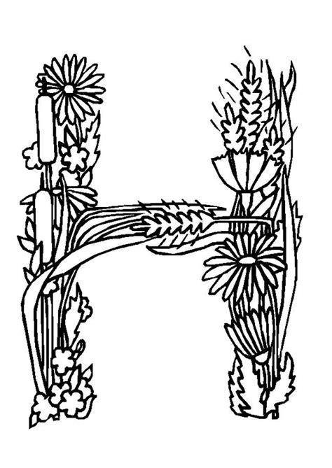 lettre deco cuisine coloriage alphabet fleurs h sur hugolescargot com