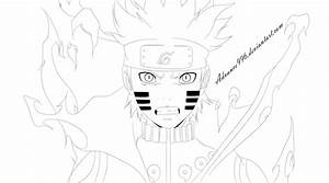 Naruto Kyuubi Mode [LineArt] by Advance996 on DeviantArt