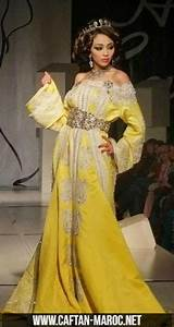 caftan de mariage jaune pour mariee 2015 takchita col With robe marocaine mariage