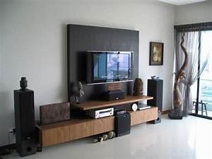 Living room lcd tv wall unit design ideas interior