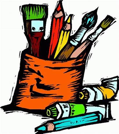 Supplies Clip Clipart Clipartpanda Tools Drawing Painting