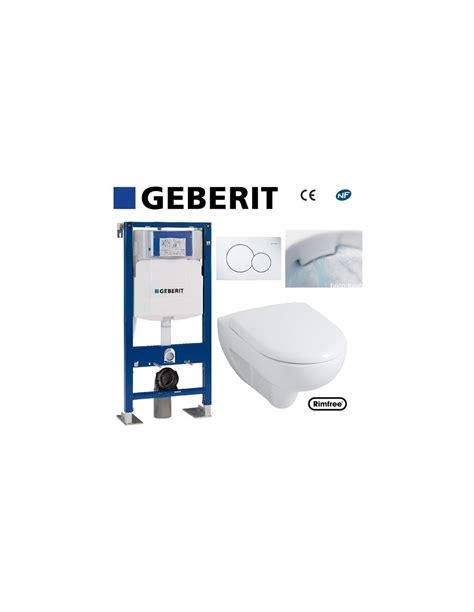 wc suspendu geberit wc suspendu geberit plaque blanche rimfree complet