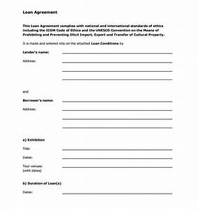 blank template sample of personal loan agreement between With blank loan document
