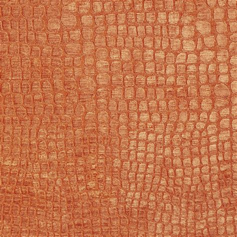 orange upholstery fabric orange textured alligator shiny woven velvet upholstery
