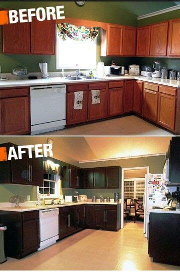 spruce up kitchen cabinets black paint and modern handles can spruce up the diy 8204
