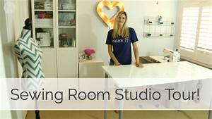 Sewing Room Studio Tour! - YouTube