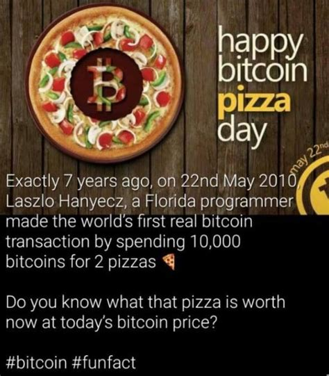 I like having left over pizza to nibble on later. Bitcoin Pizza Day | CY@CY Says