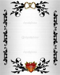 Wedding clip art borders wedding invitation valentines for Wedding invitation page borders free download