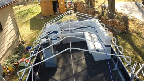boat cover frame support part  youtube
