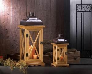 Hayloft Small Wooden Candle Lantern Wholesale at Koehler