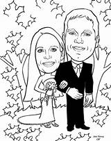 Coloring Anniversary Couple Happy Alternative Cartoon Booth Cartoons Gift Caricatures Caricature Library Clipart Popular sketch template