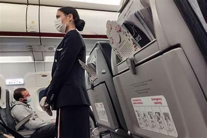 Flight Attendant Mask Airlines Attendants Gloves Wearing