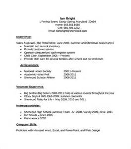 resume template high school sle resume template 53 in psd pdf word