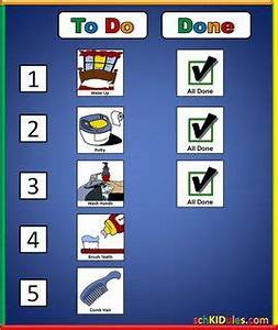 Child Personal Hygiene Chart The To Do List Helps To Guide Children Through A Sequenced