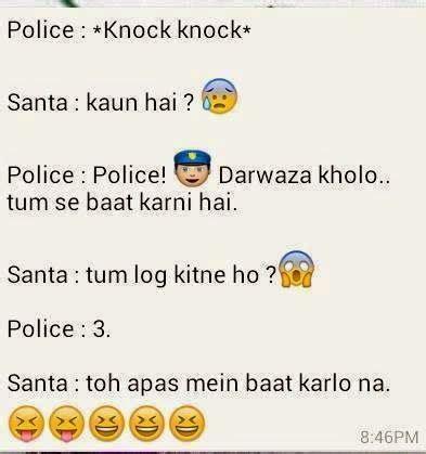 urdu latifay police  santa jokes  roman urdu