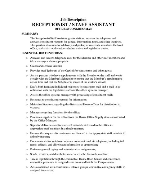 sample of resume with job description medical assistant job description in a hospital medical