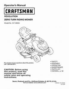 Craftsman Lawn Mower Parts Lookup