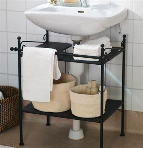 bathroom tidy ideas keep a tidy bathroom with ikea ronnskar sink shelf it 39 s