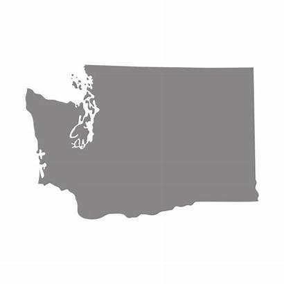 Washington State Map Background Vector Clip Gray