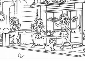 Lego For Girls Coloring Page Printable Free Lego Friends