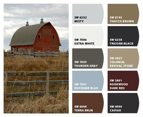 historic farm color palette inspiration for exterior home