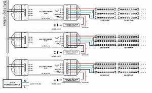 Bincolor 3 Channel 5a 12v 24v Rgb Led Dali Dimming Controller