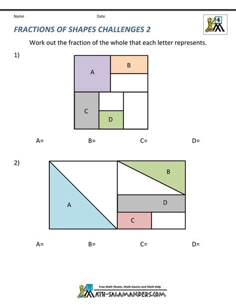 shading fractions of shapes ks2 colour fractions of