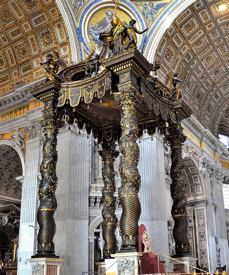 Baldacchino San Pietro by Gian Lorenzo Bernini Baldacchino Di San Pietro 1624 33