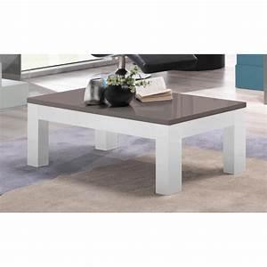 Table Grise Et Blanche : table basse design rectangulaire laqu e grise et blanche hugolin matelpro ~ Teatrodelosmanantiales.com Idées de Décoration
